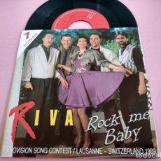 Dischi in vinile: RIVA - ROCK ME BABY EUROVISION 1989 YUGOSLAVIA NETHERLANDS EDITION. Lote 261890660