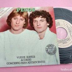 Discos de vinilo: PECOS - VUELVE, SUEÑOS, ACORDES, CONCIERTO PARA ADOLESCENTES - EP PROMOCIONAL. Lote 261895185