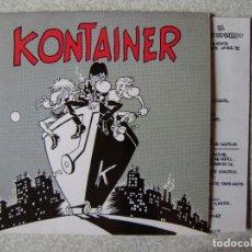 Discos de vinilo: KONTAINER (EL HOMBRE DEL SAKO)...NO + 3...DIFICIL...ROCK BARCELONA. Lote 261900705