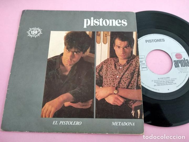 PISTONES - EL PISTOLERO / METADONA (Música - Discos - Singles Vinilo - Grupos Españoles de los 70 y 80)