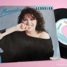 """Discos de vinilo: MASSIEL ACORDEON/ LA NOCHE 7"""" SINGLE 1984 HISPAVOX. Lote 261910205"""
