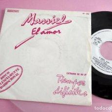 Discos de vinilo: MASSIEL. EL AMOR / EL NOA-NOA.DISCO PROMOCIONAL. HISPAVOX, 1981.. Lote 261910395