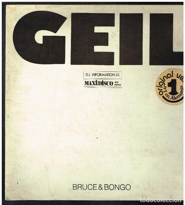 BRUCE & BONGO - GEIL - MAXI SINGLE 1986 -. ED. ALEMANIA (Música - Discos de Vinilo - Maxi Singles - Pop - Rock Internacional de los 90 a la actualidad)