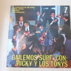 Discos de vinilo: MICKY Y LOS TONYS, EP, VERDE, VERDE + 3, AÑO 1964. Lote 261913975