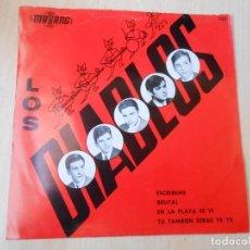 Discos de vinilo: DIABLOS, LOS, EP, ESCRIBEME + 3, AÑO 1966. Lote 261914980