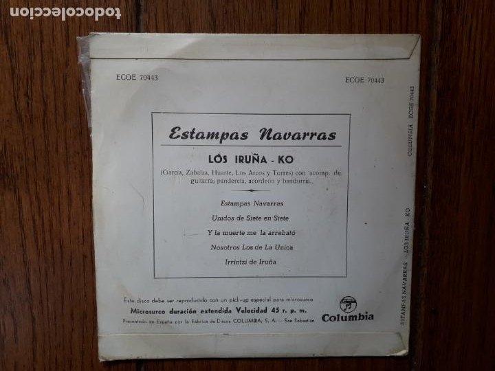 Discos de vinilo: Los Iruñeko - estampas navarras - unidos de siete en siete + y la muerte me la arrebató + 2 - Foto 2 - 261916955
