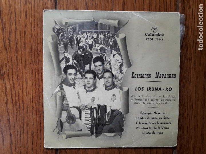 LOS IRUÑEKO - ESTAMPAS NAVARRAS - UNIDOS DE SIETE EN SIETE + Y LA MUERTE ME LA ARREBATÓ + 2 (Música - Discos de Vinilo - EPs - Étnicas y Músicas del Mundo)