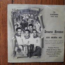 Discos de vinilo: LOS IRUÑEKO - ESTAMPAS NAVARRAS - UNIDOS DE SIETE EN SIETE + Y LA MUERTE ME LA ARREBATÓ + 2. Lote 261916955