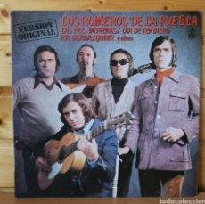 Discos de vinilo: LP ALBUM , LOR ROMEROS DE LA PUEBLA , LAS TRES MORENAS.... Lote 261919090