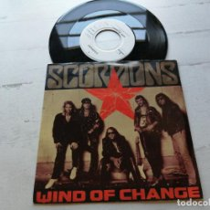 Discos de vinilo: SCORPIONS ‎– WIND OF CHANGE SINGLE ALEMANIA 1990 VG++/VG++. Lote 261920060