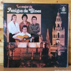 Discos de vinilo: LP ALBUM , LO MEJOR DE AMIGOS DE GINES. Lote 261920250