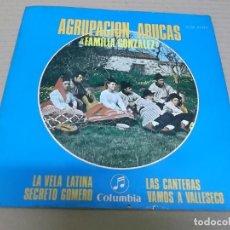 Discos de vinilo: AGRUPACION ARUCAS (EP) LA VELA LATINA AÑO 1969 – PORTADA ABIERTA – INCLUYE HOJAS CON TEXTOS. Lote 261923395