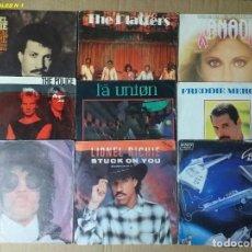 Discos de vinilo: (LOTE 1) DE VARIOS 9 SINGLES DE SÚPER EXITOS DE ARTISTAS NACIONALES HE INTERNACIONALES.. Lote 261923615