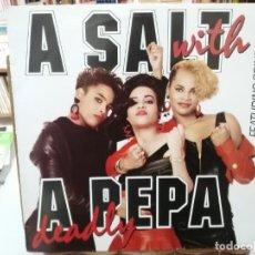 Discos de vinilo: SALT ´N PEPA - A SALT WITH A DEADLY PEPE - LP. SELLO EMI 1988. Lote 261925930