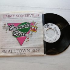 Discos de vinilo: JIMMY SOMERVILLE WITH BRONSKI BEAT ‎– SMALLTOWN BOY SINGLE UK 1991 VINILO NM/PORTADA EX. Lote 261932055