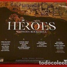 Discos de vinilo: HEROES DEL SILENCIO - SILENCIO Y ROCK'N'ROLL 2 LPS + 2 CDS. Lote 279552398