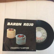 """Discos de vinilo: DISCO SINGLE VINILO 7"""" 1988 BARÓN ROJO TRAMPA Y CARTÓN/ LOS DOMINGOS SON MUY ABURRIDOS. Lote 261943915"""