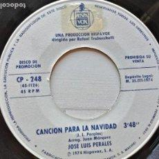 Discos de vinilo: JOSE LUIS PERALES CANCION PARA LA NAVIDAD/KARINA UN NIÑO SINGLE PROMO 1974 EX. Lote 261963810