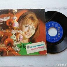 Discos de vinilo: VARIOUS – NAVIDADES PHILIPS SINGLE 1964 PORTADA ROCÍO DURCAL. Lote 261964255
