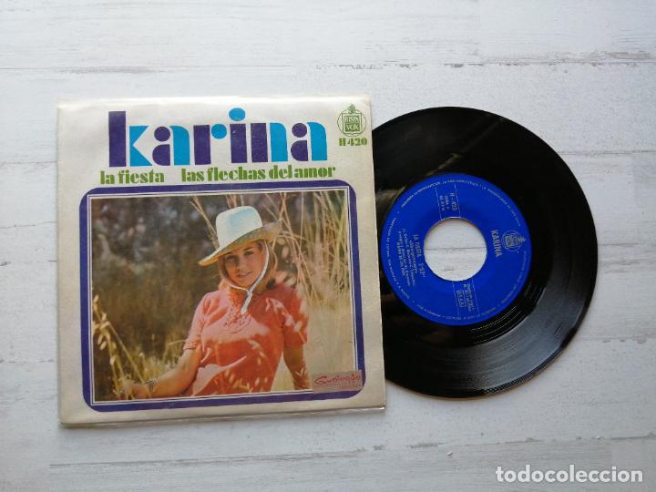 KARINA (4) – LA FIESTA SINGLE 1968 EX/EX (Música - Discos - Singles Vinilo - Solistas Españoles de los 50 y 60)