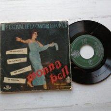 Discos de vinilo: MONNA BELL – I FESTIVAL DE LA CANCIÓN ESPAÑOLA EP SPAIN 1959. Lote 261965720
