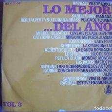 Disques de vinyle: LP - LO MEJOR DEL AÑO - VOL. 3 (VARIOS) (SPAIN, HISPAVOX 1966). Lote 261971330