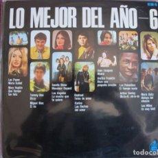 Discos de vinilo: LP - LO MEJOR DEL AÑO - VOL. 6 (VARIOS) (SPAIN, HISPAVOX 1969). Lote 261971725