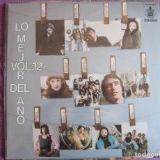 Discos de vinilo: LP - LO MEJOR DEL AÑO - VOL.12 (VARIOS) (SPAIN, HISPAVOX 1975). Lote 261972470