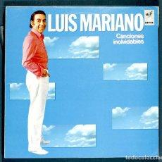 Discos de vinilo: LP DE LUIS MARIANO: CANCIONES INOLVIDABLES. EMI, 1986. MUY BUEN ESTADO.. Lote 261972690