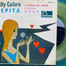 "Discos de vinilo: BILLY CAFARO - PEPITA (7"", EP, VINILO AMARILLO) (FONTANA) (1960/ES). Lote 261978725"