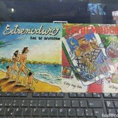 Discos de vinilo: EXTREMODURO LOTE 2 SINGLES PROMOCIONALES SOL DE INVIERNO / ESTOY MUY BIEN. Lote 261979995