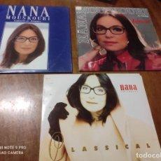 Discos de vinilo: NANA MOUSKOURI-LOTE 3 LP-DOS DE ELLOS DOBLES. Lote 261991035