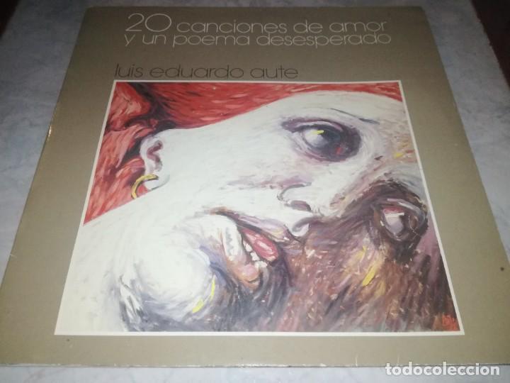 LUIS EDUARDO AUTE-20 CANCIONES DE AMOR Y UN POEMA DESESPERADO-DOBLE LP (Música - Discos - LP Vinilo - Cantautores Españoles)