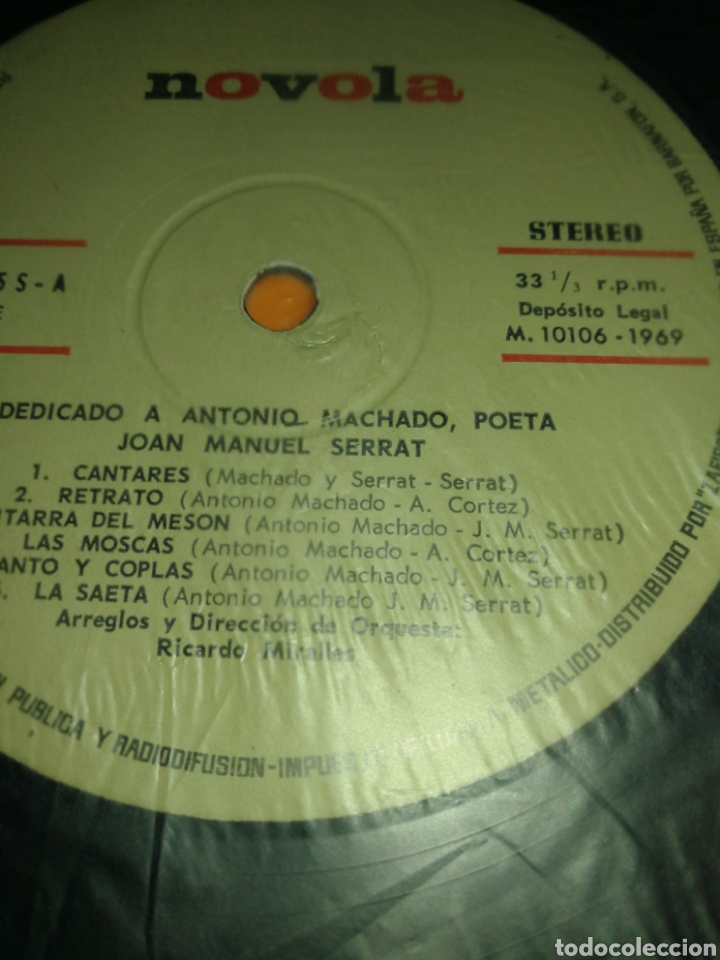 Discos de vinilo: JOAN MANUEL SERRAT, DEDICADO A ANTONIO MACHADO, VINILO. - Foto 3 - 261998545