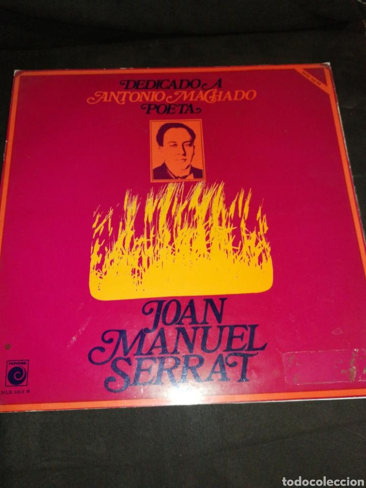 JOAN MANUEL SERRAT, DEDICADO A ANTONIO MACHADO, VINILO. (Música - Discos - LP Vinilo - Cantautores Españoles)