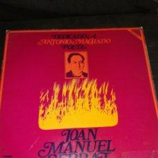 Discos de vinilo: JOAN MANUEL SERRAT, DEDICADO A ANTONIO MACHADO, VINILO.. Lote 261998545