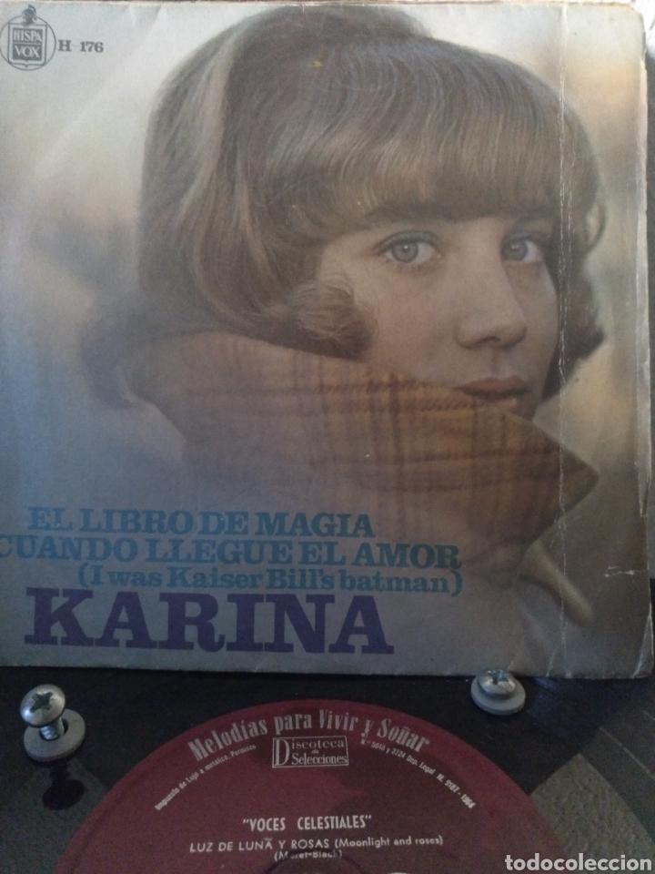 KARINA.** EL LIBRO DE MAGIA * CUANDO LLEGUE EL AMOR ** (Música - Discos - Singles Vinilo - Solistas Españoles de los 50 y 60)