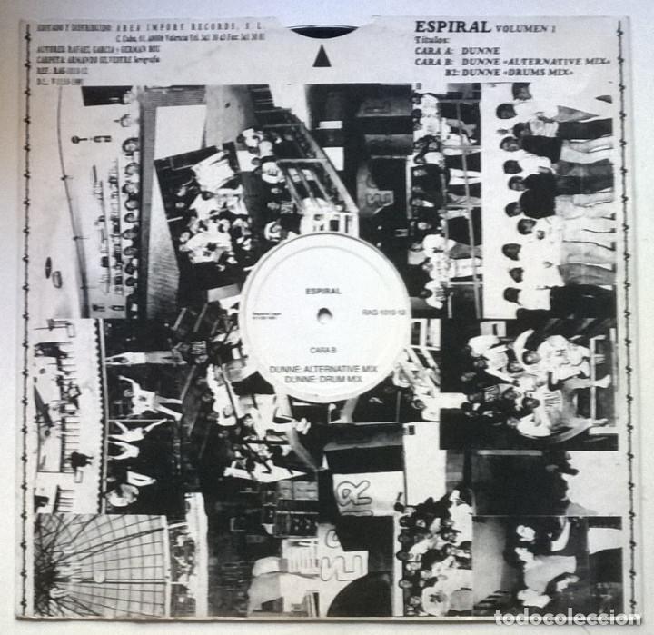 Discos de vinilo: Espiral, Volumen 1: Dunne. Area Impori records, Spain 1991 (Maxi 12) - Foto 2 - 262006135