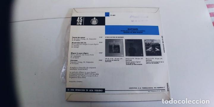 Discos de vinilo: RAPHAEL-EP DIGAN LO QUE DIGAN +3-BUEN ESTADO - Foto 2 - 262008925
