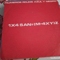 """Discos de vinilo: AZUL Y NEGRO - NÚMEROS ROJOS (7"""", SINGLE) MERCURY 880 670-7.MUY BUEN ESTADO. NEAR MINT / VG+++. Lote 262012905"""