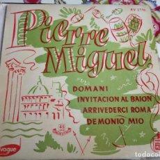 """Discos de vinilo: PIERRE MIGUEL ACOMPAÑADO POR GÉRARD CALVI Y SU ORQUESTA* - DOMANI (7"""")HISPAVOX. COMO NUEVO,MINT / NM. Lote 262013550"""