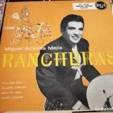 """Discos de vinilo: MIGUEL ACEVES MEJIA - RANCHERAS (7"""", EP) SELLO:RCA CAT. Nº: 3-20130.COMO NUEVO. MINT/ NEAR MINT. Lote 262013890"""