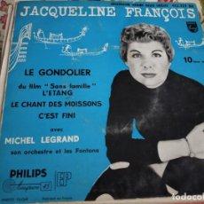 """Discos de vinilo: JACQUELINE FRANÇOIS - 10ÈME SÉRIE - LE GONDOLIER (7"""", EP)PHILIPS 432.223 BE. VG+ / VG+. Lote 262014905"""