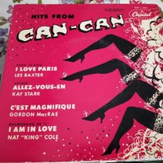 "Discos de vinilo: VARIOUS - HITS FROM CAN-CAN (7"", EP) SELLO:CAPITOL RECORDS EAP 1-482.BUEN ESTADO.VG+++ / VG+. Lote 262015095"