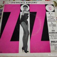 Discos de vinilo: ZIZI JEANMAIRE AVEC MICHEL LEGRAND SON ORCHESTRE ET LES FONTANA-DU FILM CHARMANTS GARCONS. VG+/VG+. Lote 262015250