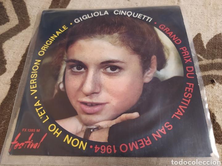 GIGLIOLA CINQUETTI–NON HO L'ETÀ (PER AMARTI ) EP FRANCE 1964. (Música - Discos de Vinilo - EPs - Pop - Rock Internacional de los 50 y 60)