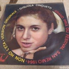 Discos de vinilo: GIGLIOLA CINQUETTI–NON HO L'ETÀ (PER AMARTI ) EP FRANCE 1964.. Lote 262026055