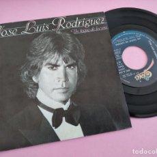 Discos de vinilo: JOSE LUIS RODRIGUEZ - UN TOQUE DE LOCURA / TE CONOZCO DESDE SIEMPRE. Lote 262034810