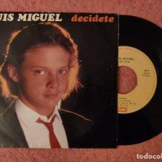 """Discos de vinilo: 7"""" LUIS MIGUEL - DECÍDETE / BANDIDO CUPIDO - EMI 4516727 - PORTUGAL PRESS (EX-/EX-). Lote 262049535"""