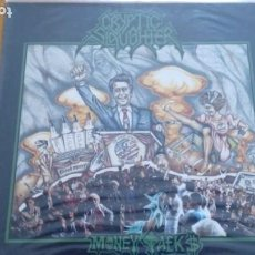 Discos de vinilo: CRYPTIC SLAUGHTER MONEY TALKS LP 1987. Lote 262052985